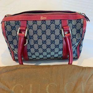 Vintage Gucci Denim Top Handle bag.